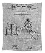 1869 Life Preserver Patent Charcoal Tapestry