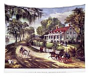 1870s 1800s A Home On The Mississippi - Tapestry