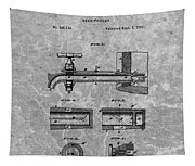 1885 Beer Tap Patent Charcoal Tapestry