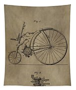 1890 Bicycle Patent Tapestry