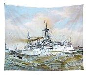 1895 - The Brandenburg Squadron At Sea - Color Tapestry