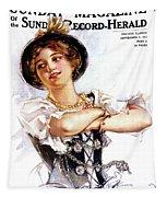 1900s 1913 Smiling German Girl Wearing Tapestry