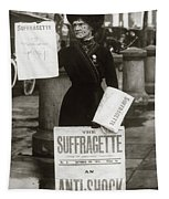 1900s British Suffragette Woman Tapestry
