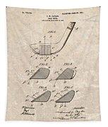 1903 Golf Club Patent Tapestry