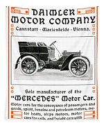 1904 - Daimler Motor Company Mercedes Advertisement - Color Tapestry