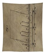1911 Steamship Patent Tapestry