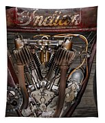 1912 Indian Board Track Racer Engine Tapestry