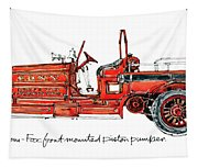 1913 Ahrens-fox Front Mounted Piston Pumper Tapestry