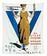 1918 - Ywca Patriotic Poster - World War One - Color Tapestry