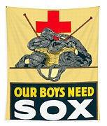 1918- Red Cross Poster - World War One - Color Tapestry