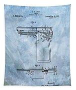 1920 Handgun Patent Tapestry