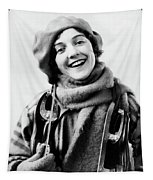 1920s 1930s Smiling Woman Dressed Tapestry