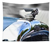 1928 Pontiac Hood Ornament And Badge Tapestry