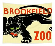 1930 - Brookfield Zoo Poster - Boston - Color Tapestry