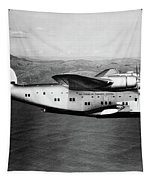 1930s 1940s Pan American Clipper Flying Tapestry by Vintage Images