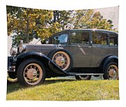 1931 Ford Sedan On Hill At Greenfield Village In Dearborn Michigan Tapestry
