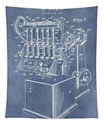 1932 Machine Patent Tapestry