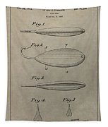 1933 Fish Lure Patent Tapestry