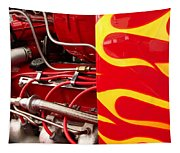 Hot Rod Art Work And Engine Tapestry