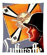 1939 German Luftwaffe Recruiting Poster - Color Tapestry