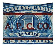 1940-1965 Internal Revenue Playing Cards Stamp Tapestry