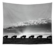 1940s Line Of Anonymous Silhouetted Tapestry