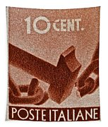 1946 Hammer That Breaks A Chain Italiane Stamp Tapestry