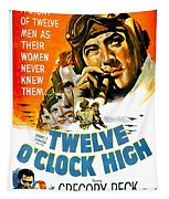 1949 - Twelve O Clock High Movie Poster - Gregory Peck - Dean Jagger - 20th Century Pictures - Color Tapestry