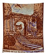 1949 San Francisco Ruins Dominican Republic Stamp Tapestry
