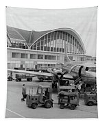 1950s 1960s Propeller Airplane Tapestry