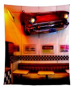 1950s American Diner - Featured In Vehicle Enthusiasts Tapestry