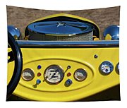 1950s Hot Road Dashboard At Antique Car Tapestry