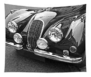 1951 Jaguar Xk120 In Black And White Tapestry