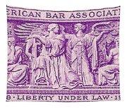 1953 American Bar Association Postage Stamp Tapestry