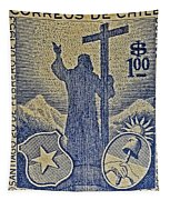 1953 Chile Stamp Tapestry