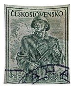 1954 Czechoslovakian Soldier Stamp Tapestry