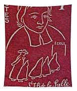 1954 De La Salle Monaco Stamp Tapestry