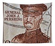 1954 General John J. Pershing Stamp Tapestry