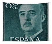 1955 General Franco Spanish Stamp Tapestry