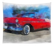 1956 Chevy Car Photo Art 01 Tapestry