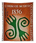 1956 Mexico Stamp Tapestry