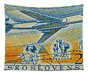 1957 Czechoslovakia Airline Stamp Tapestry