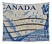 1957 David Thompson Canada Stamp Tapestry