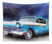 1957 Ford Classic Car Photo Art 02 Tapestry