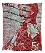 1957 St. Lawrence Seaway Opening Stamp Tapestry