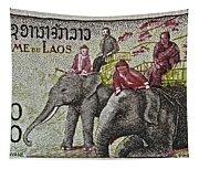 1958 Laos Elephant Stamp IIi Tapestry