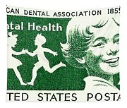 1959 Dental Health Postage Stamp Tapestry