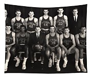 1959 University Of Michigan Basketball Team Photo Tapestry
