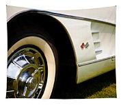 1959 White Chevy Corvette Tapestry
