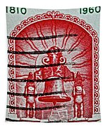 1960 Mexican Independence Stamp Tapestry